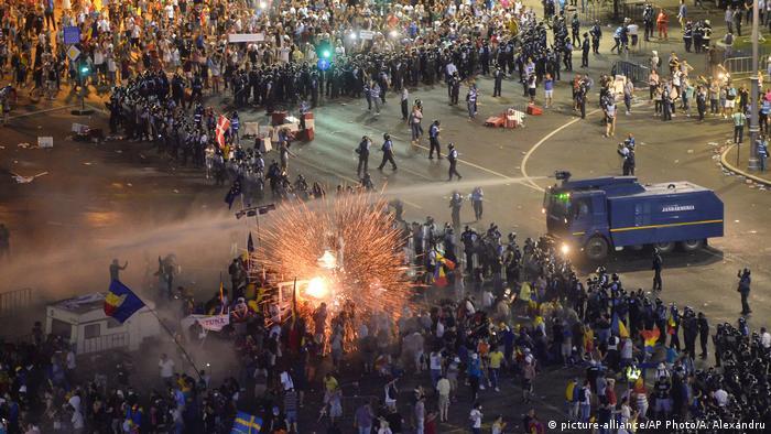 Violenţele poliţiei la Bucureşti, la 10 august 2018