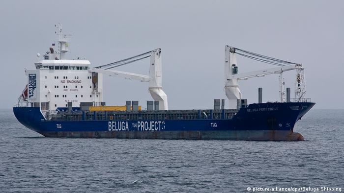 Containerschiff auf der Nordostpassage (picture-alliance/dpa/Beluga Shipping)