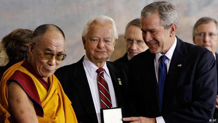 Dalai lamma erhält Goldmedaille des amerikanischen Kongresses Flash -Galerie