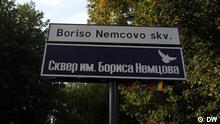 Litauen Vilnius Park wurde nach Boris Nemtsov umbenannt