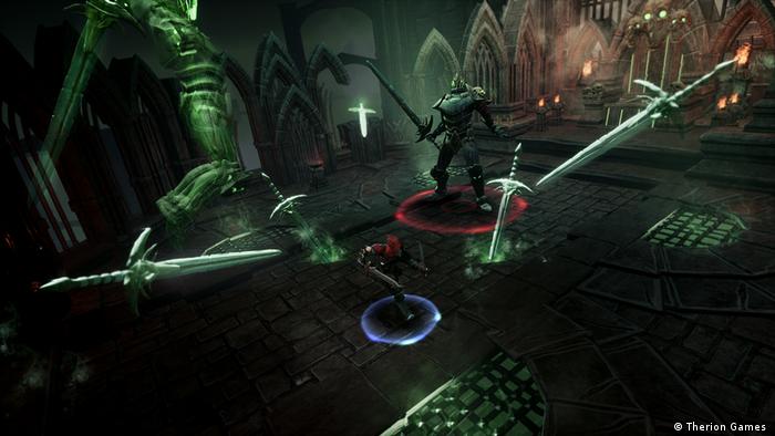 Gamescom 2018 videojuego Therion Games en una escena de lucha con espadas (Therion Games )