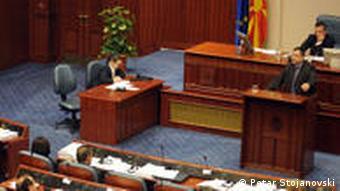 Mazedonien Das Parlament in Skopje