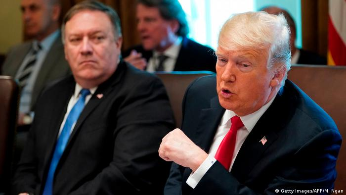 US President Donald Trump and US Secretary of State Mike Pompeo (Getty Images/AFP/M. Ngan)
