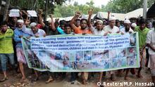 Bangladesch Rohingya-Proteste im Kutupalong-Flüchtlingscamp