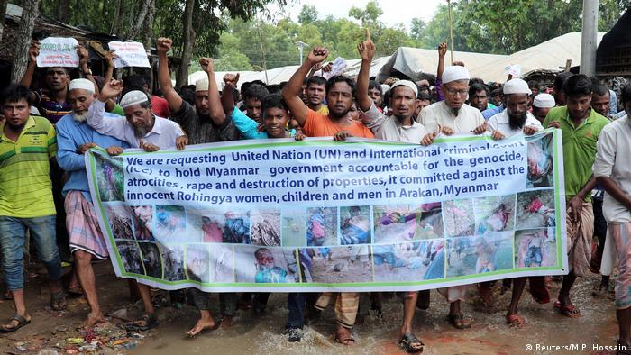 Bangladesch Rohingya-Proteste im Kutupalong-Flüchtlingscamp (Reuters/M.P. Hossain)