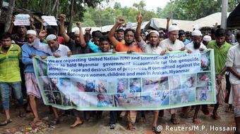 هزاران تن از آوارگان میانمار در اردوگاههای بنگلادش زندگی میکنند