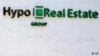 Hypo Real Estate sign on building