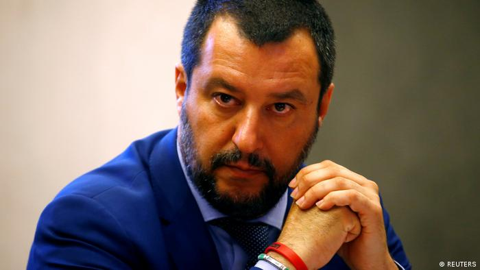 Italy's interior minister and leader of the far-right League, Matteo Salvini