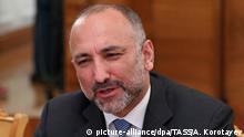 MOSCOW, RUSSIA - MARCH 17, 2017: Mohammad Hanif Atmar, National Security Adviser to the President of Afghanistan, speaks during a meeting with Russian Foreign Minister Sergei Lavrov. Artyom Korotayev/TASS |