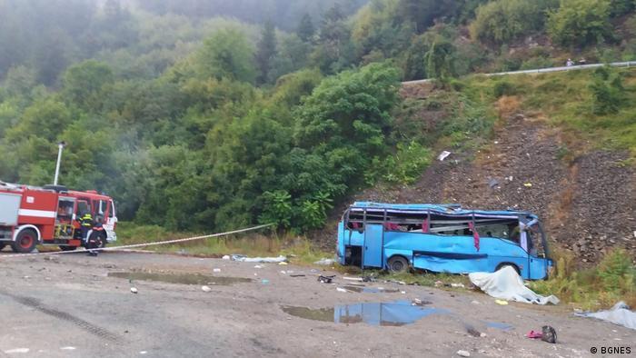 Bulgarien nahe Sofia Verkehrsunfall mit Reisebus (BGNES)