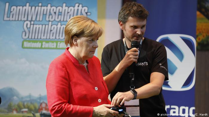 German Chancellor Angela Merkel at Gamescom