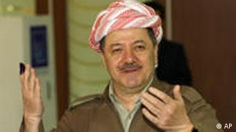 Massoud Barzani casting his vote