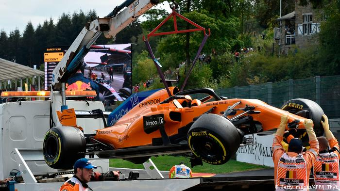 F1 Grand Prix von Belgien | Fernando Alonsos Auto (Getty Images/AFP/J. Thys)
