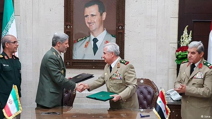 İran Savunma Bakanı'nın Suriye ziyaretinden (26 Ağustos 2018)