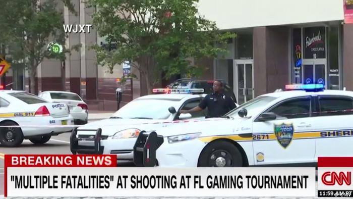 Screenshot CNN -Schießerei in Jacksonville, Florida (CNN)