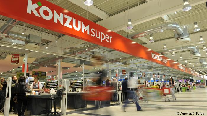 Kroatischer Supermarkt Agrokor Konzum