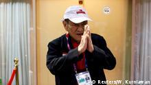 21.08.2018+++Jakarta, Indonesien+++ ***ist auch bekannt unter dem Namen Oei Gwie Siong**** Indonesian billionaire Michael Bambang Hartono gestures towards journalists after an interview about the 2018 Asian Games bridge competition in Jakarta, Indonesia, August 21, 2018. REUTERS/Willy Kurniawan