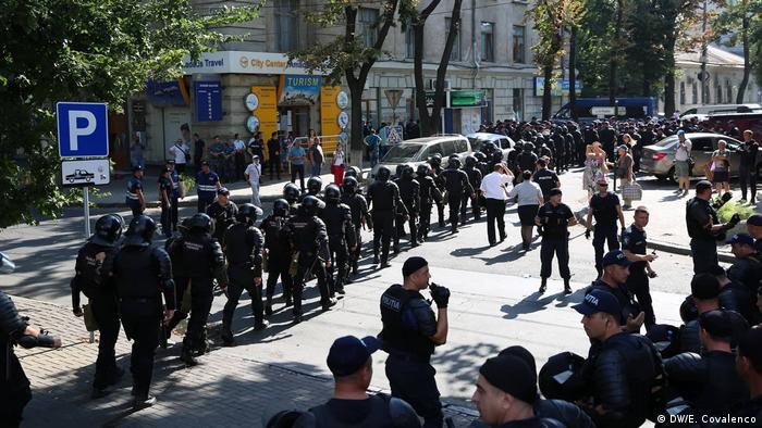 Republik Moldau   Anti-Regierungsproteste in Chisinau