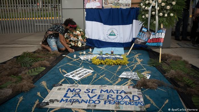 Nicaragua Hommage an den ermordeten Journalisten Ángel Gahona