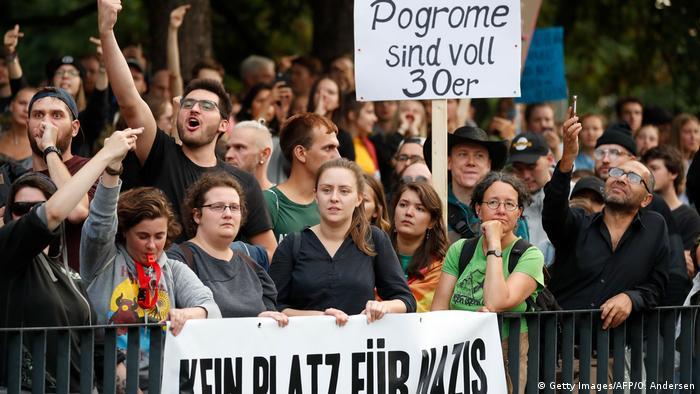 Contramanifestación en Chemnitz
