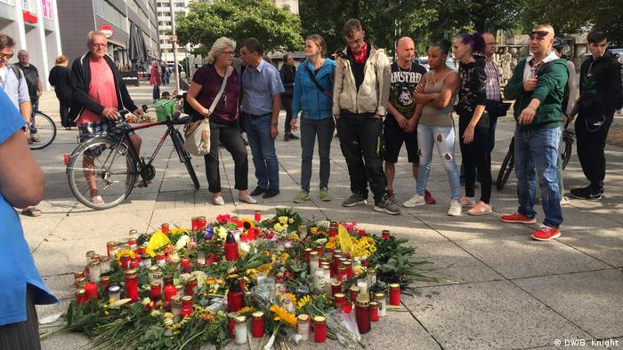 Mourners in Chemnitz