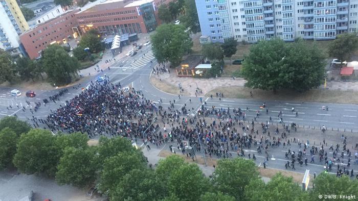 Chemnitz protest (DW/B. Knight)