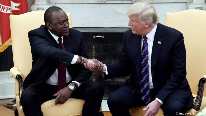 USA Uhuru Kenyatta und Donald Trump in Washington