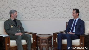 Syrian Bashar al-Assad trifft Amir Hatami