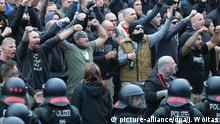 Deutschland Demonstration der rechten Szene in Chemnitz