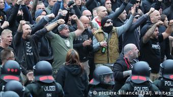 Extrema dreaptă demonstrează la Chemnitz