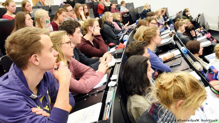 طلاب في محاضرة بجامعة لايبزغ الألمانية
