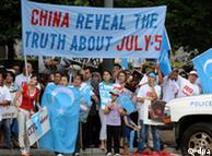 Protestas ante la Casa Blanca, tras los enfrentamientos entre uigures y chinos-han.