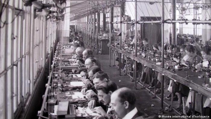 Uhrenfabrik in La Chaux-de-Fonds, Schweiz