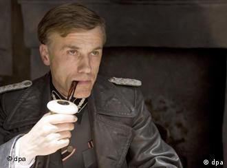 Actor Christoph Waltz as Colonel Hans Landa in Quentin Tarantino's film Inglourious Basterds