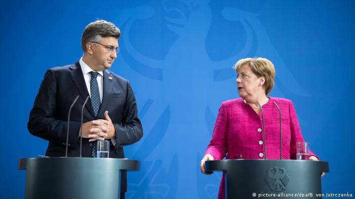 Kroatischer Premier Plenkovic bei Merkel
