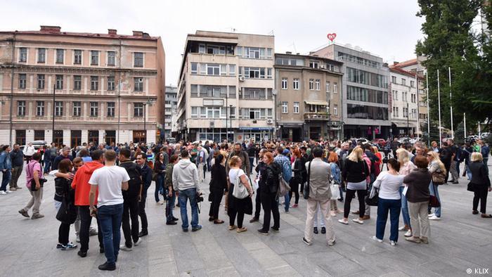 Bosnien-Herzegowina Protesten der Journalisten (KLIX)