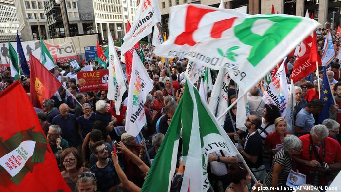 Italien Mailand Protest gegen Orban Besuch