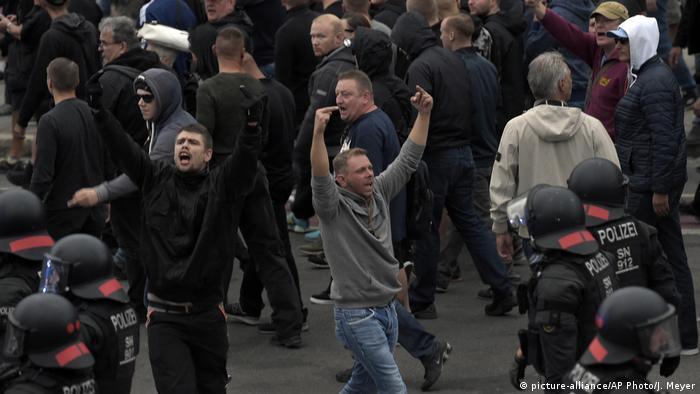 Demonstrators in Chemnitz