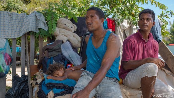 Migrantes venezuelanos em Boa Vista