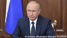Russland Präsident Putin Rentenreform