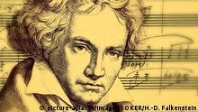 Deutschland Portrait von Ludwig van Beethoven (picture-alliance/imageBROKER/H.-D. Falkenstein)