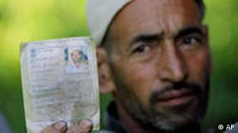 Man with voter identity card