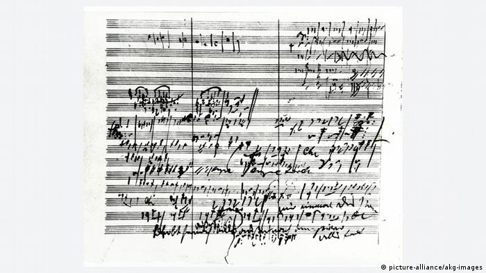 Beethoven's notes on his Fifth Symphony (Photo: picture-alliance/akg-images).