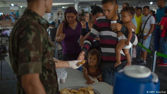 Brasilien venezolanische Flüchtlinge in Pacaraima