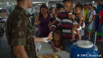 Foto de migrantes venezolanos