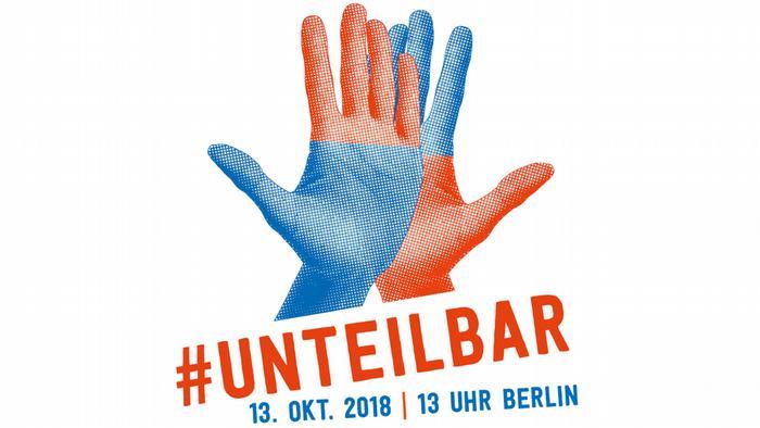 Deutschland Flyer Bündnis unteilbar ruft zu Demonstration auf