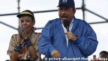 Nicaragua Präsident Daniel Ortega und seine Frau Rosario Murillo