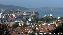 Norwegen Bergen Stadt Hafen