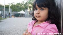 Two-year-old Roze, whose family has been on Nauru for five years