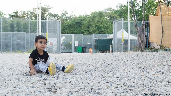 Two year old George, who was born in detention on Nauru (World Vision Australia)